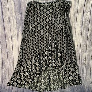Torrid Black Faux Wrap Tulip Hem Ruffle Skirt, 4